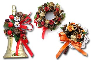 Traditional Salzburg spice bouquets and spice wreaths.