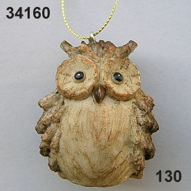 Poly Owl wood look