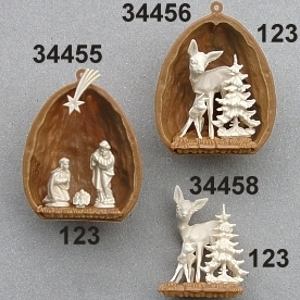 Nutshell nativity set