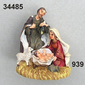 Holy Family w/lamp medi