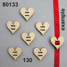 Wooden heart mini 2slit