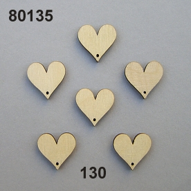 Wooden heart mini flat