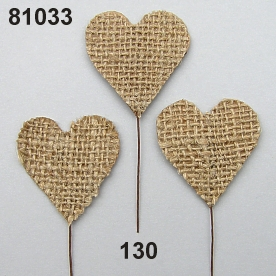 Jute-heart on stem