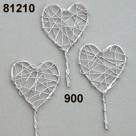 Wire-heart on stem