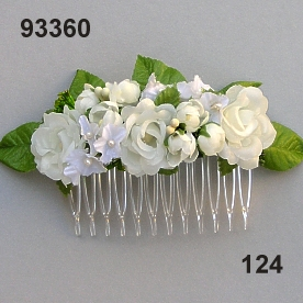Rose-Forget-m.Hair comb