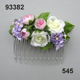 Rose-Lilac Hair comb